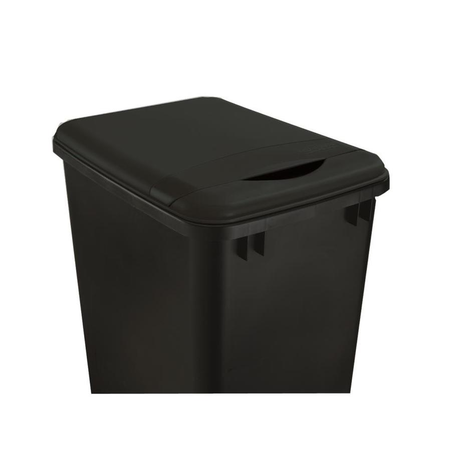 shop rev a shelf black plastic kitchen trash can lid at. Black Bedroom Furniture Sets. Home Design Ideas