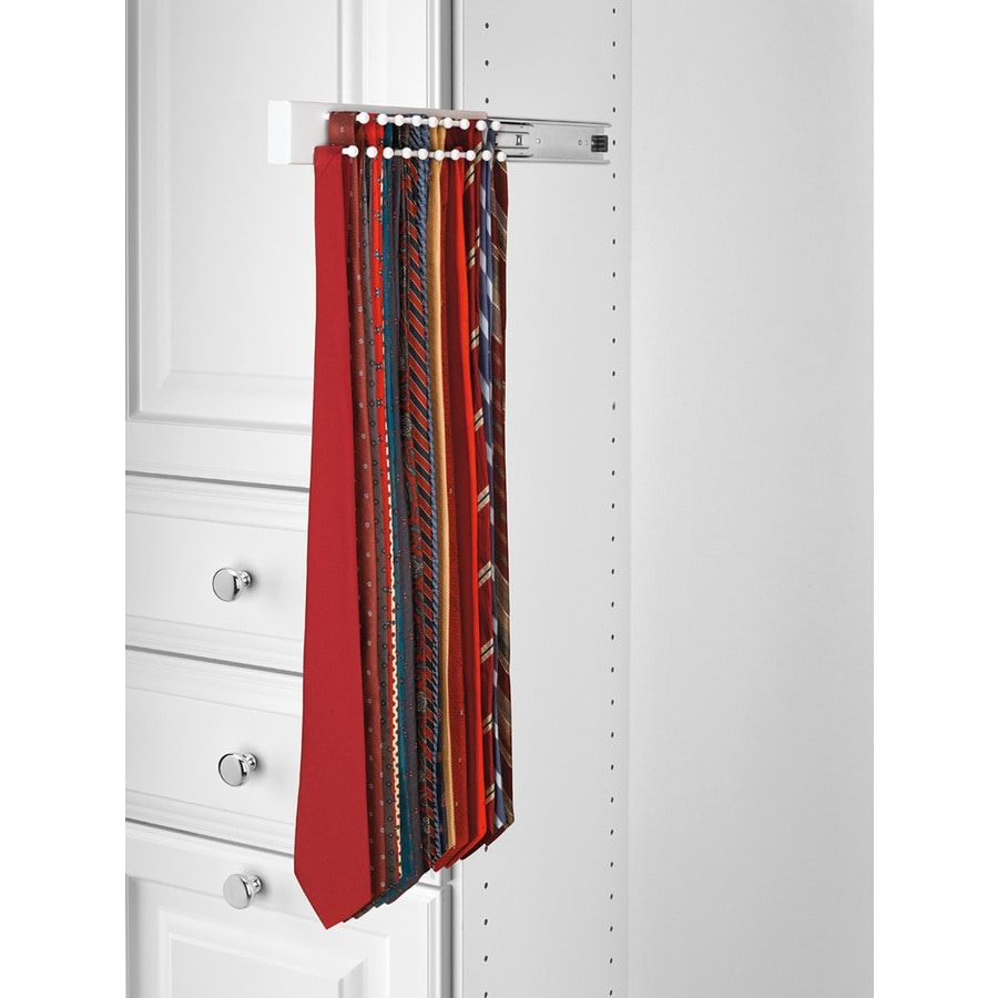 Rev-A-Shelf White Side Mount Tie Rack