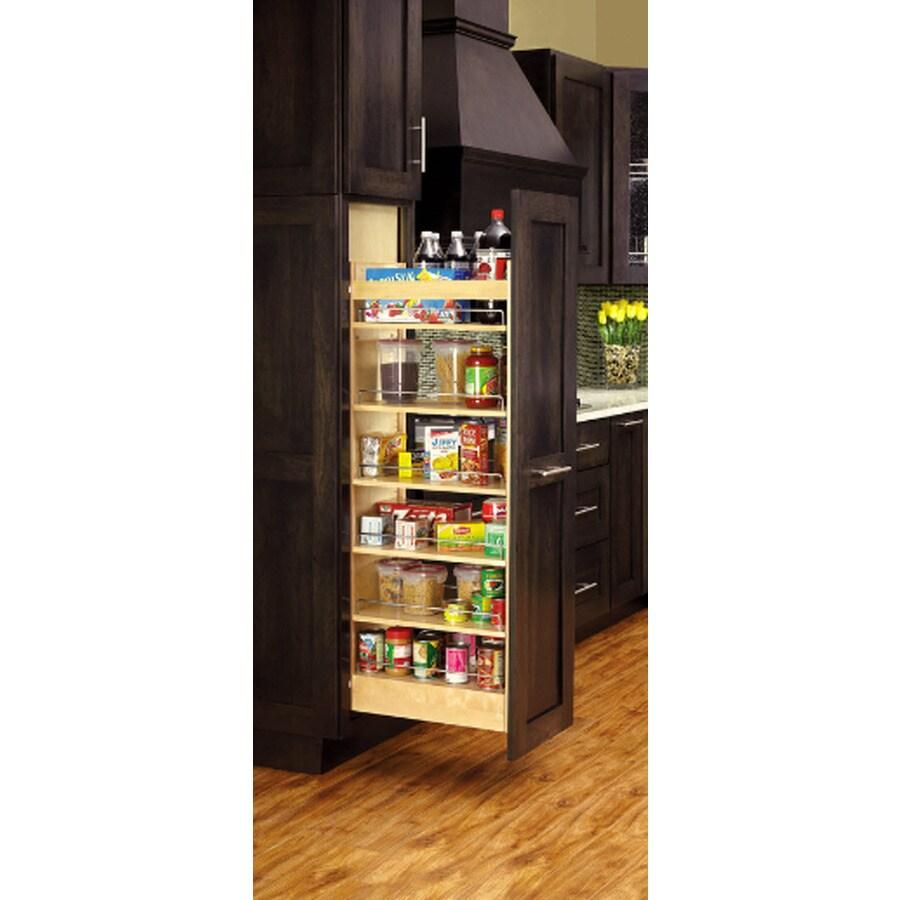 Rev-A-Shelf 5-in W x 59.38-in H Wood 1-Tier Cabinet Pantry