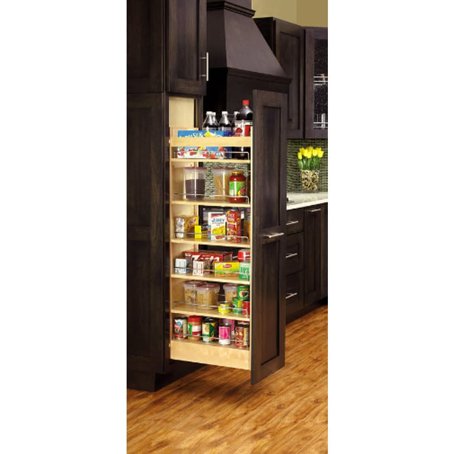 Rev-A-Shelf 14-in W x 66.88-in H Wood 1-Tier Cabinet Pantry