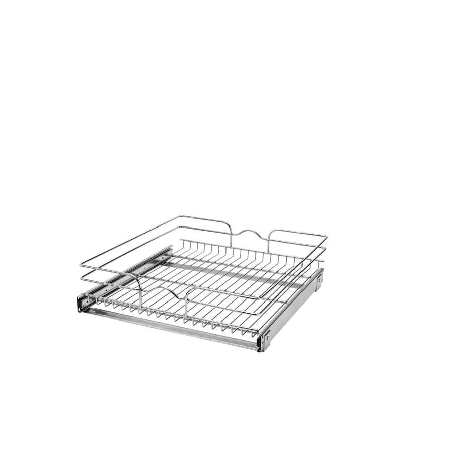 Rev-A-Shelf 20.75-in W x 7-in H Metal 1-Tier Pull Out Cabinet Basket