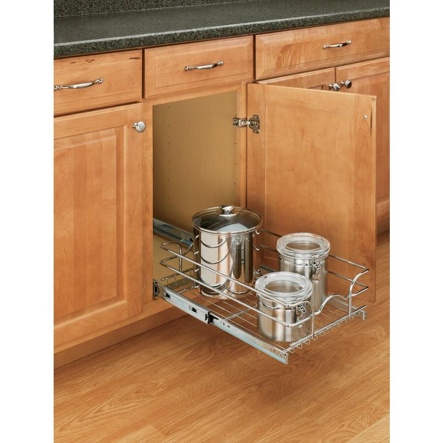 Rev-A-Shelf 8.75-in W x 7-in H Metal 1-Tier Cabinet Basket