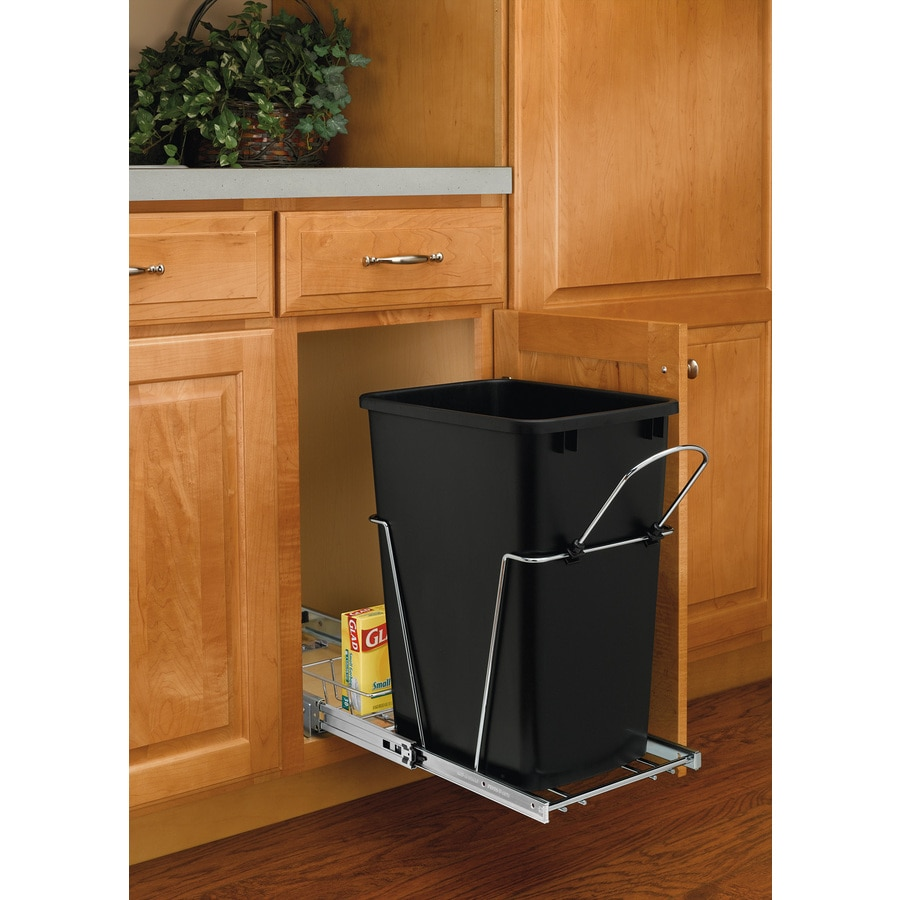 shop rev a shelf 35 quart plastic pull out trash can at. Black Bedroom Furniture Sets. Home Design Ideas