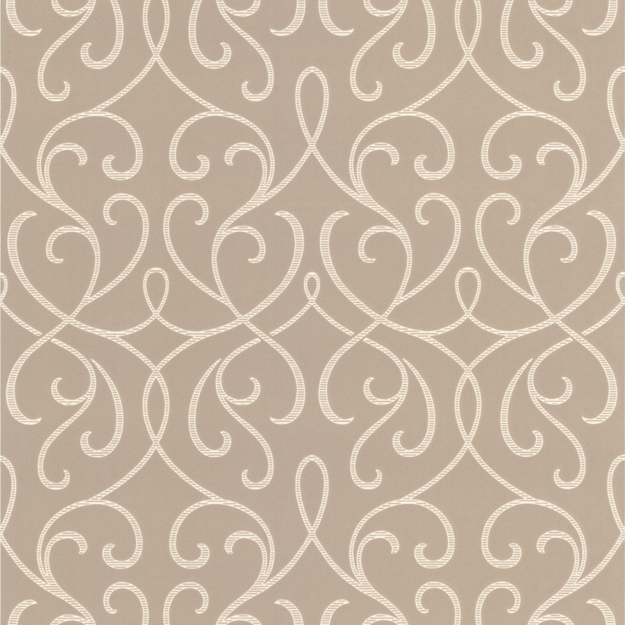 Brewster Wallcovering Beige Strippable Non-Woven Paper Unpasted Classic Wallpaper