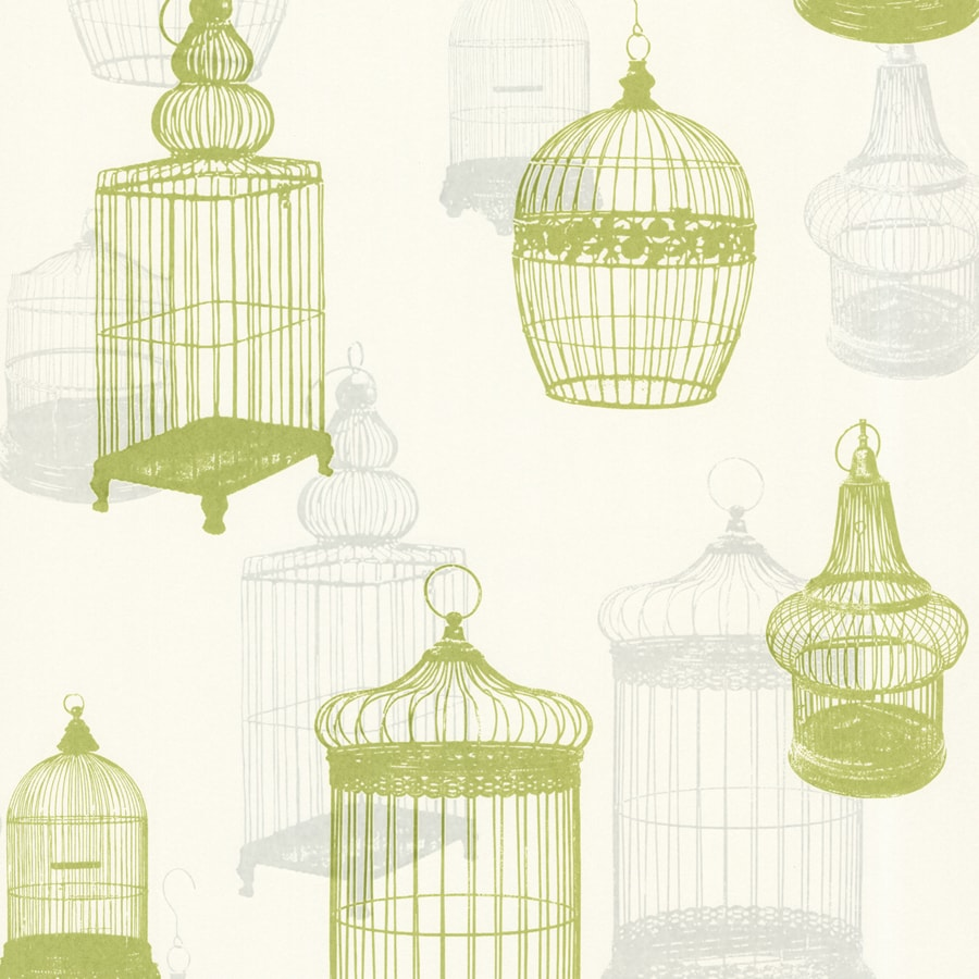 Brewster Wallcovering Chartreuse Strippable Non-Woven Paper Unpasted Classic Wallpaper