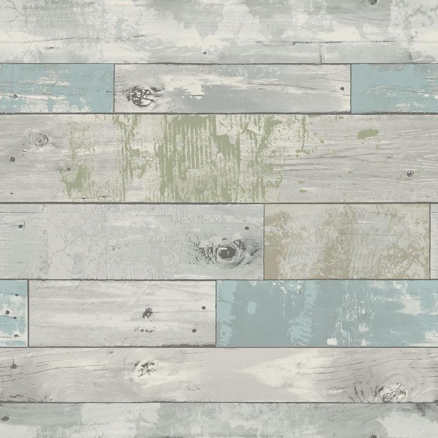 Shop brewster wallcovering blue repositionable vinyl self for Self adhesive wallpaper