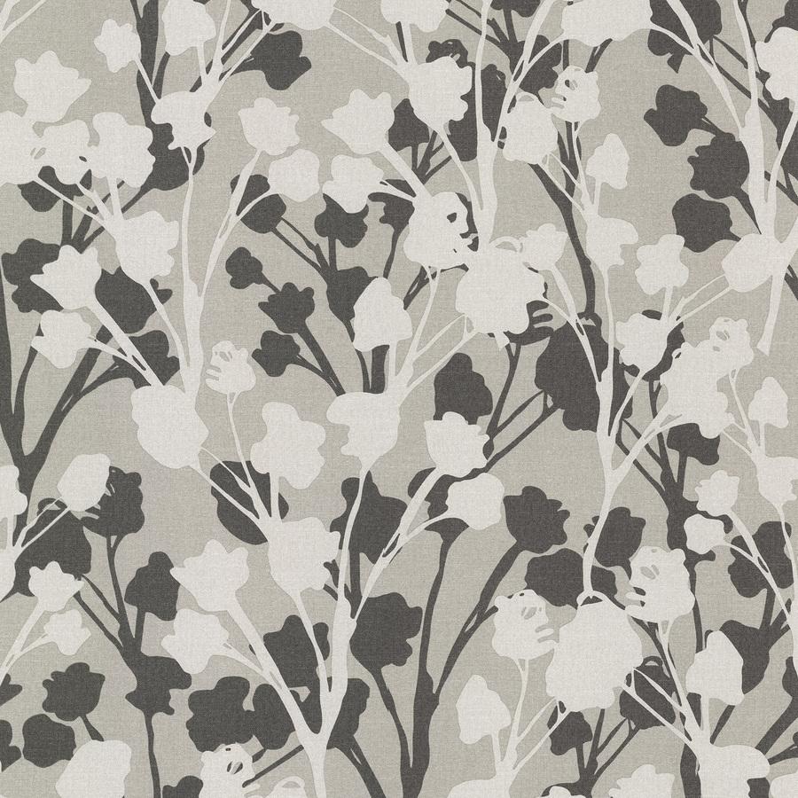 Brewster Wallcovering Gray Peelable Vinyl Prepasted Classic Wallpaper