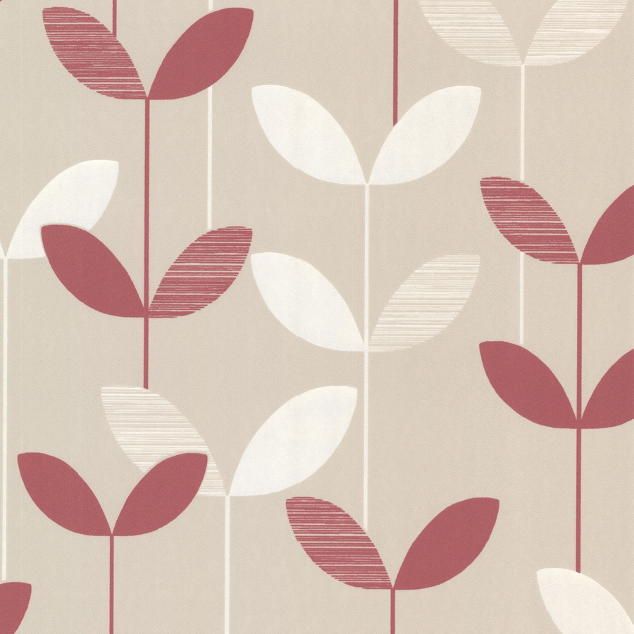 Brewster Wallcovering Pink and Cream Strippable Non-Woven Paper Unpasted Classic Wallpaper