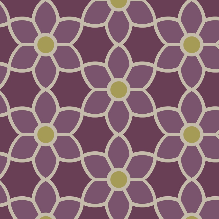 Brewster Wallcovering Purple Strippable Non-Woven Paper Unpasted Classic Wallpaper