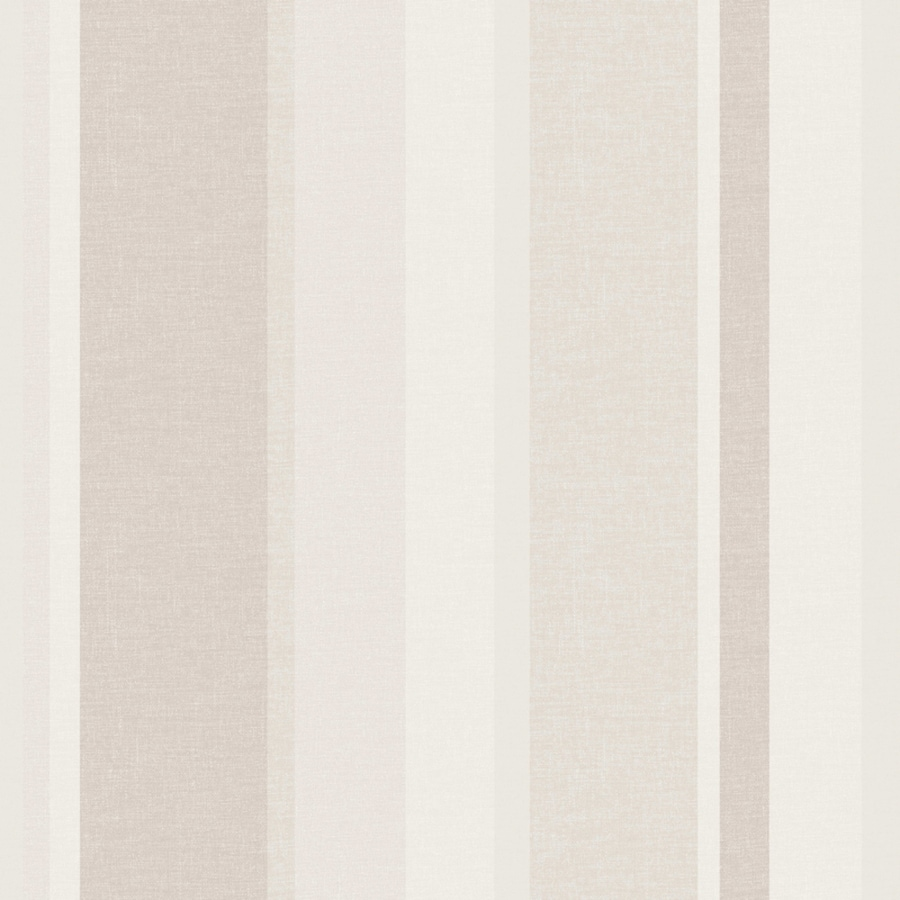 Brewster Wallcovering Cream and Grey Strippable Non-Woven Paper Unpasted Classic Wallpaper