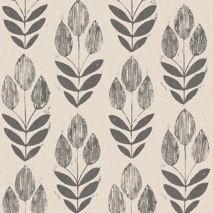 Brewster Wallcovering White and Black Strippable Non-Woven Paper Unpasted Classic Wallpaper