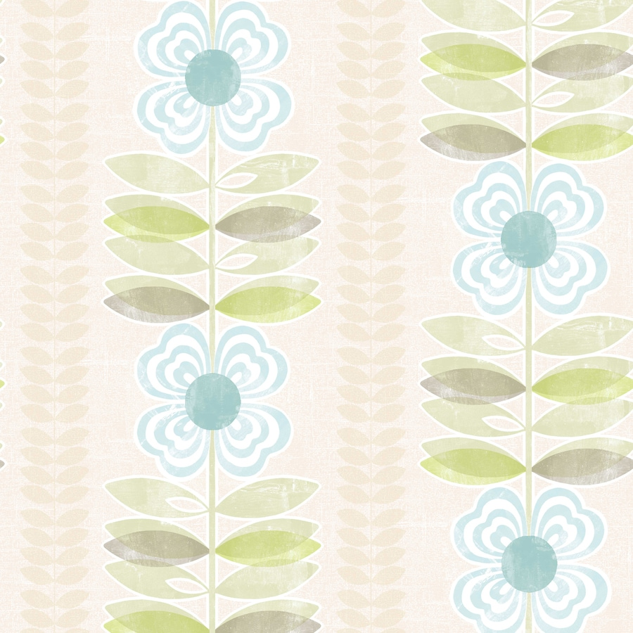 Brewster Wallcovering White and Blue Strippable Non-Woven Paper Unpasted Classic Wallpaper