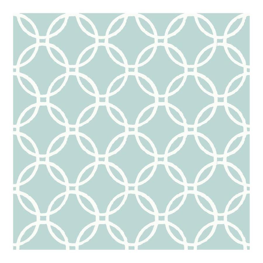 Nuwallpaper 30 75 Sq Ft Blue Vinyl Geometric Self Adhesive Peel And Stick Wallpaper In The Wallpaper Department At Lowes Com
