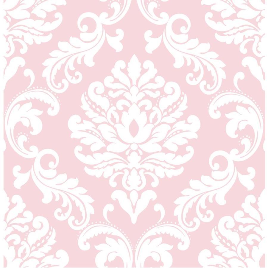 WallPops Pink Repositionable Vinyl Self-Adhesive Classic Wallpaper