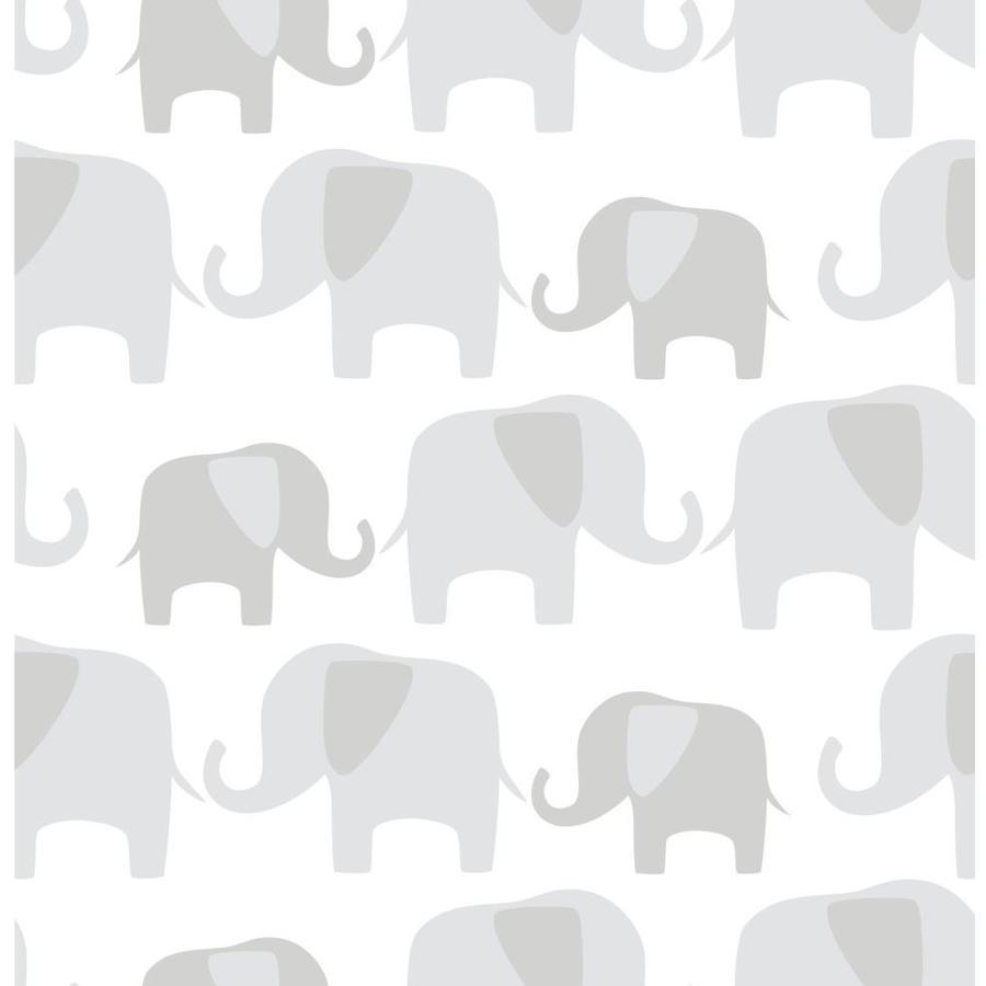 WallPops Grey Repositionable Vinyl Self-Adhesive Classic Wallpaper