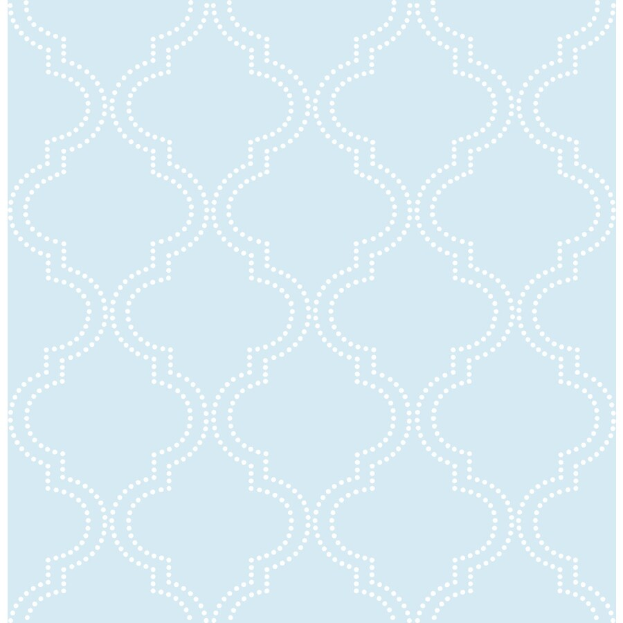 WallPops Blue Repositionable Vinyl Self-Adhesive Classic Wallpaper