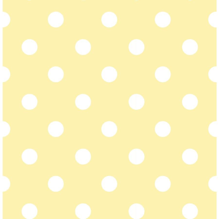 WallPops Yellow Repositionable Vinyl Self-Adhesive Classic Wallpaper