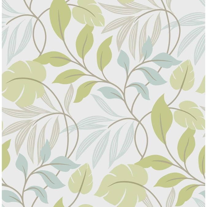 Nuwallpaper 30 75 Sq Ft Multicolor Vinyl Floral Self Adhesive Peel And Stick Wallpaper In The Wallpaper Department At Lowes Com