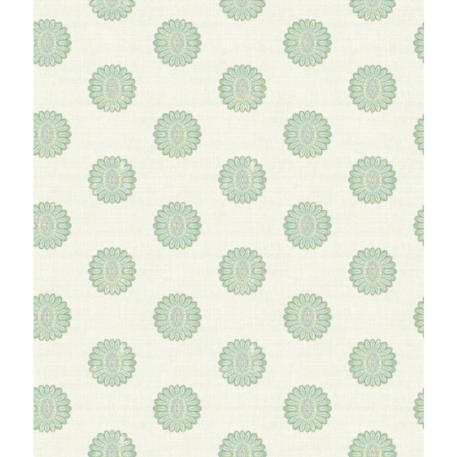 Brewster Wallcovering Turquoise Strippable Non-Woven Paper Unpasted Classic Wallpaper