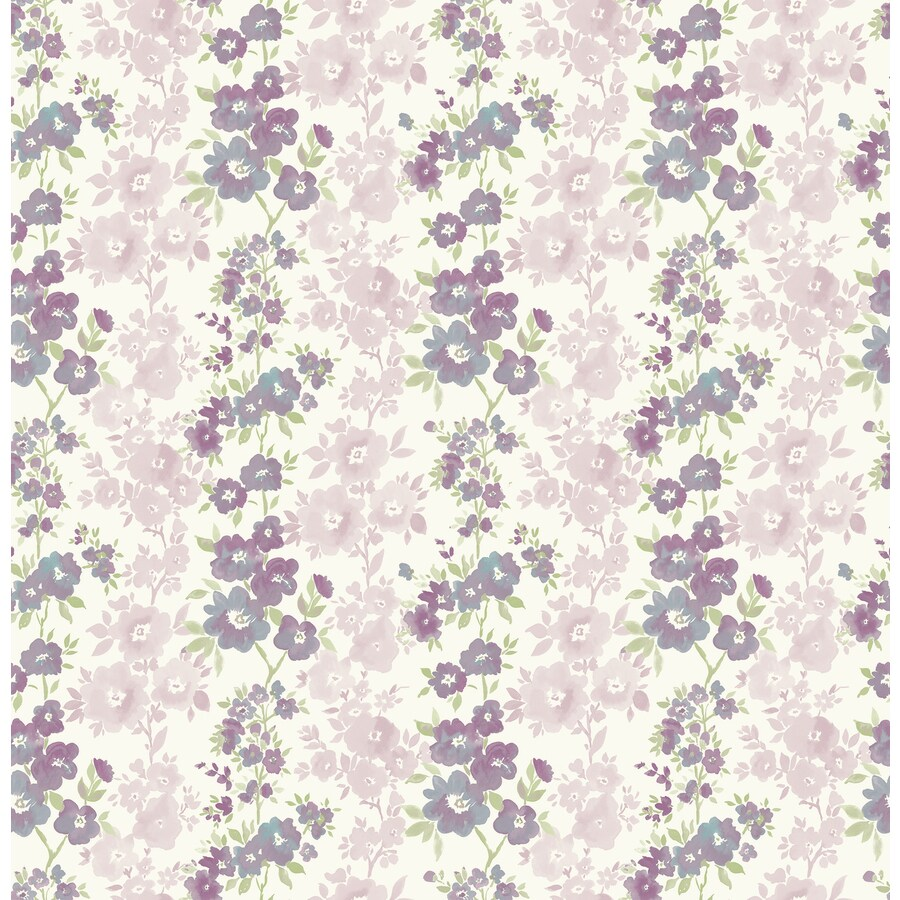 Brewster Wallcovering Plum Strippable Non-Woven Paper Unpasted Classic Wallpaper