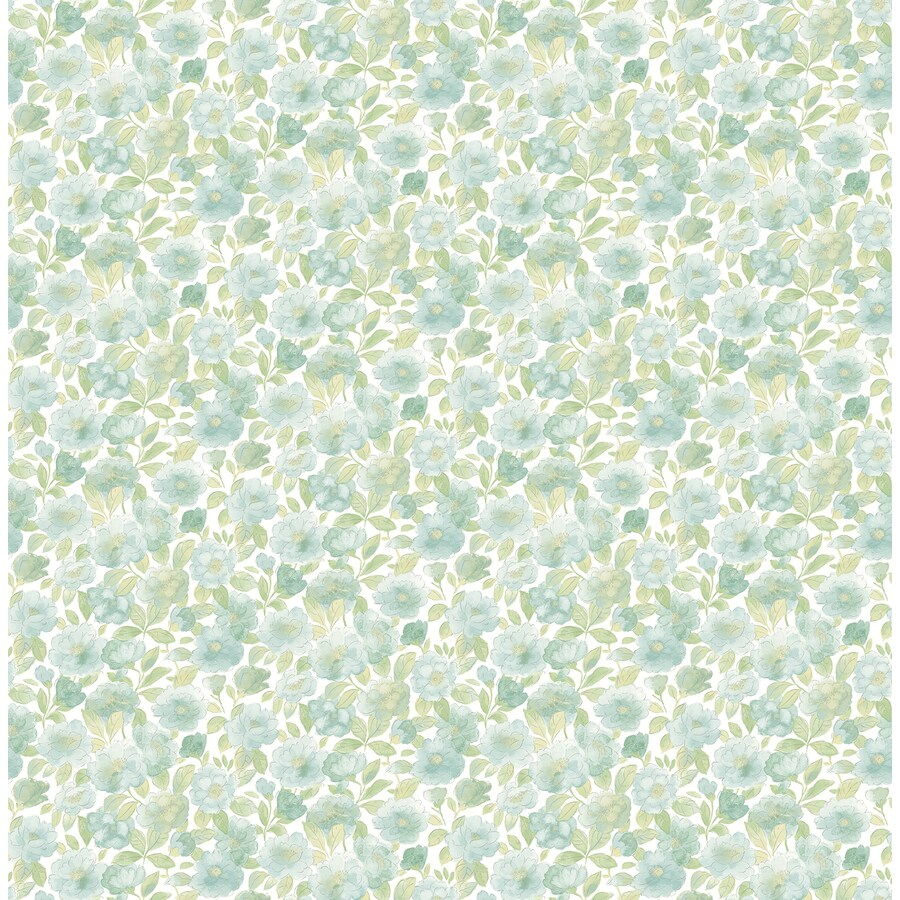 Brewster Wallcovering Teal Strippable Non-Woven Paper Unpasted Classic Wallpaper