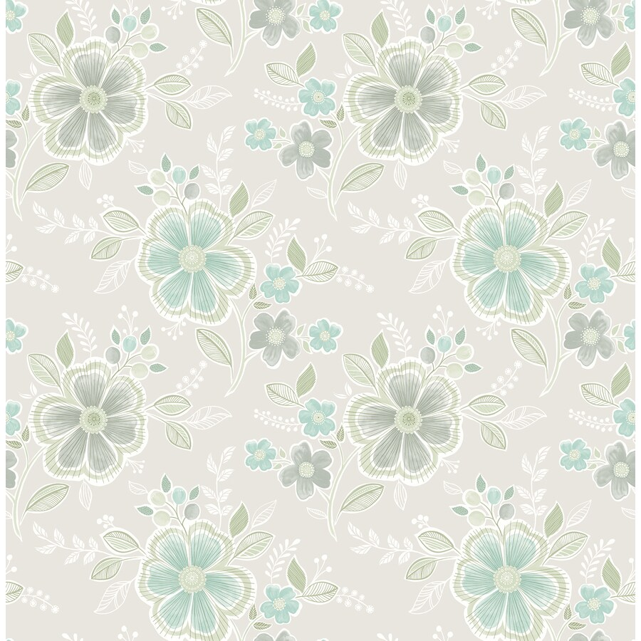 Brewster Wallcovering Aquamarine Strippable Non-Woven Paper Unpasted Classic Wallpaper