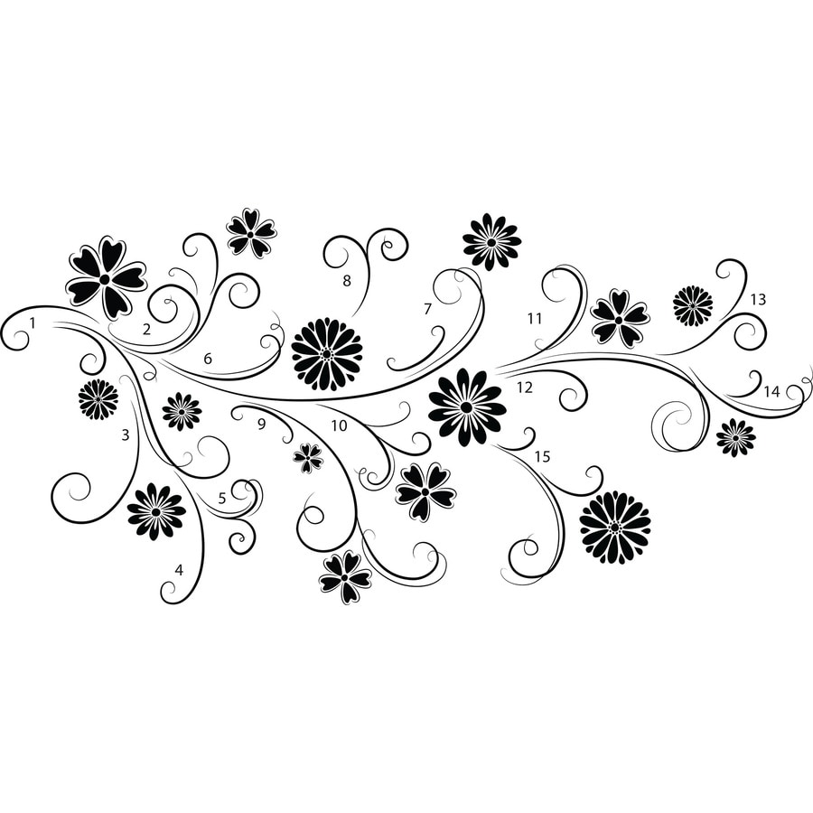 Brewster Wallcovering Floral Wall Stickers