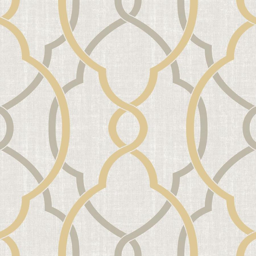 Brewster Wallcovering Yellow Repositionable Vinyl Self-Adhesive Classic Wallpaper