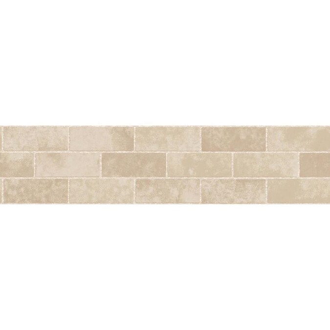 Fun4walls Cream Stone Tile Peel And Stick Border Set Of 2 In The Wall Decals Department At Lowes Com