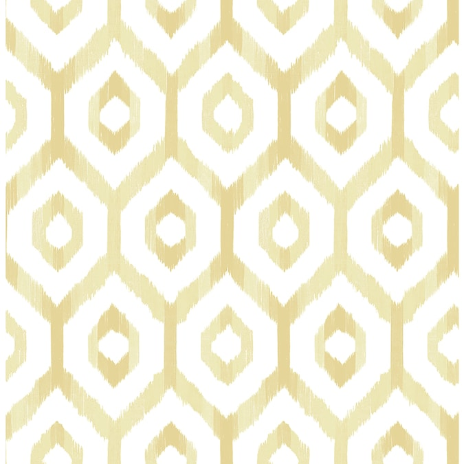 A Street Prints Solstice 56 4 Sq Ft Yellow Non Woven Geometric Unpasted Wallpaper In The Wallpaper Department At Lowes Com