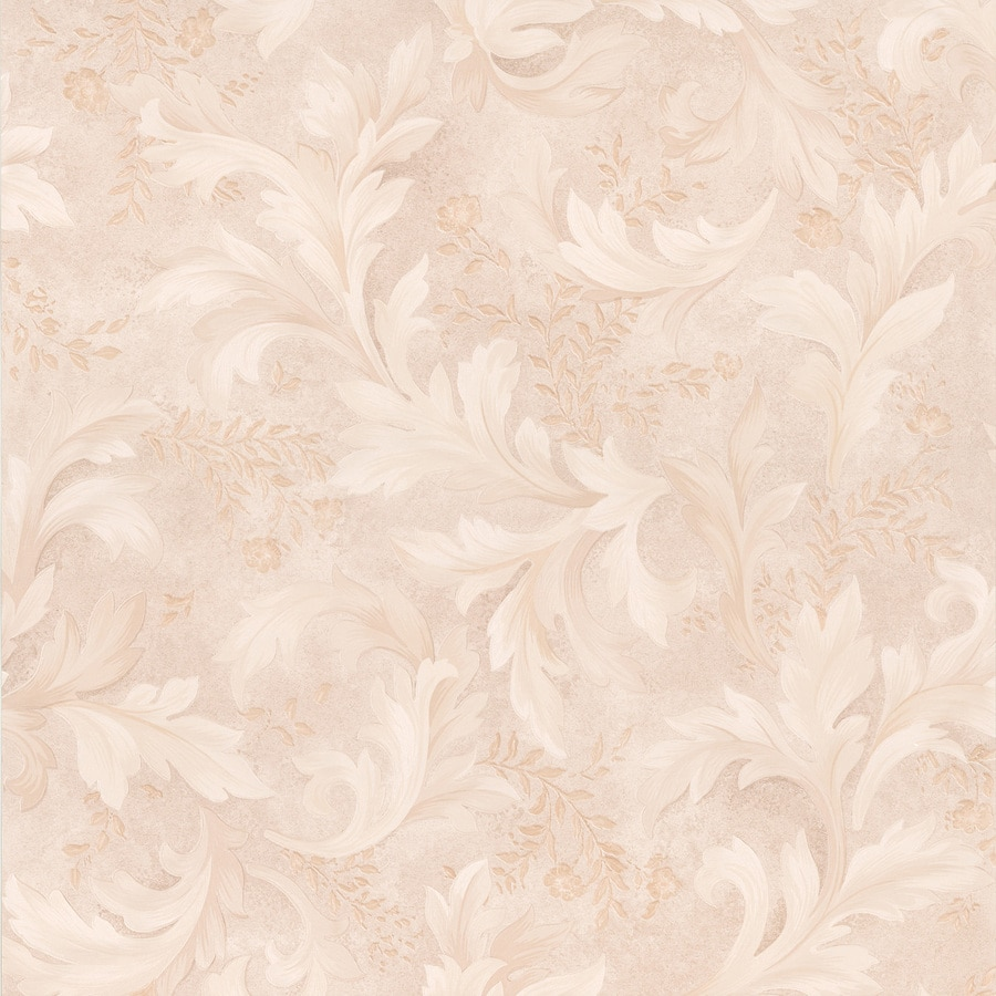 Brewster Wallcovering Beige Peelable Vinyl Prepasted Classic Wallpaper