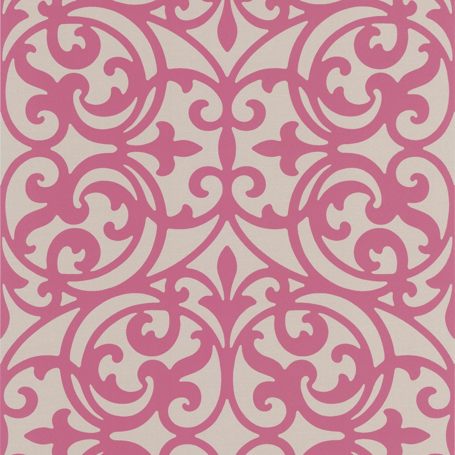 Brewster Wallcovering Fuchsia Strippable Non-Woven Paper Unpasted Classic Wallpaper
