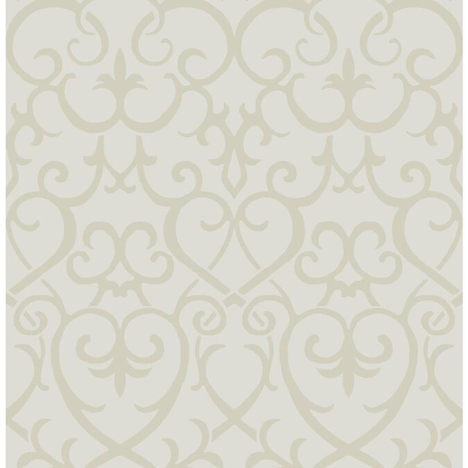 Scott Living 30 75 Sq Ft Taupe Gold Vinyl Geometric Self Adhesive Peel And Stick Wallpaper In The Wallpaper Department At Lowes Com