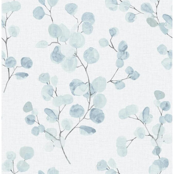 Scott Living 30 75 Sq Ft Blue Green Vinyl Ivy Vines Self Adhesive Peel And Stick Wallpaper In The Wallpaper Department At Lowes Com