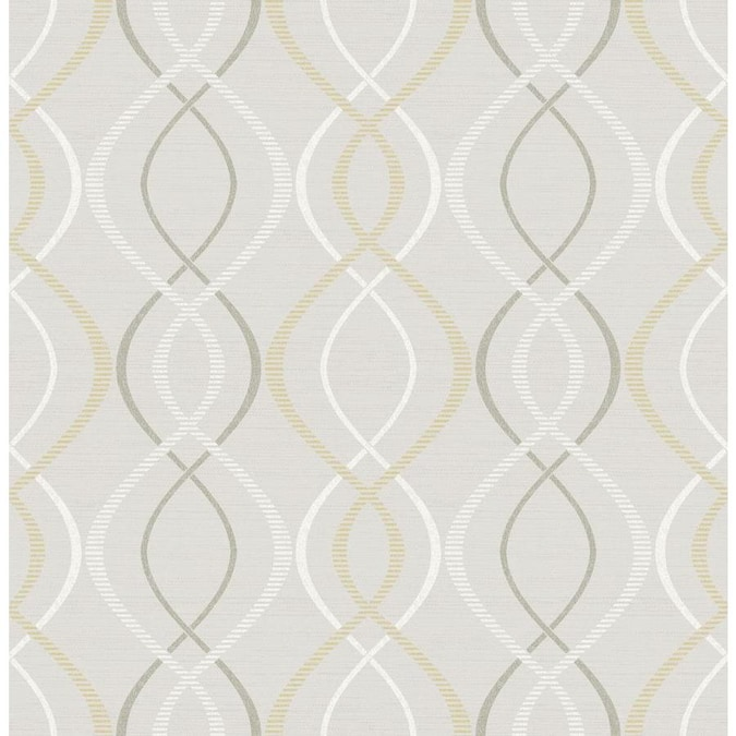 Scott Living 30 75 Sq Ft Yellow Taupe Vinyl Geometric Self Adhesive Peel And Stick Wallpaper In The Wallpaper Department At Lowes Com