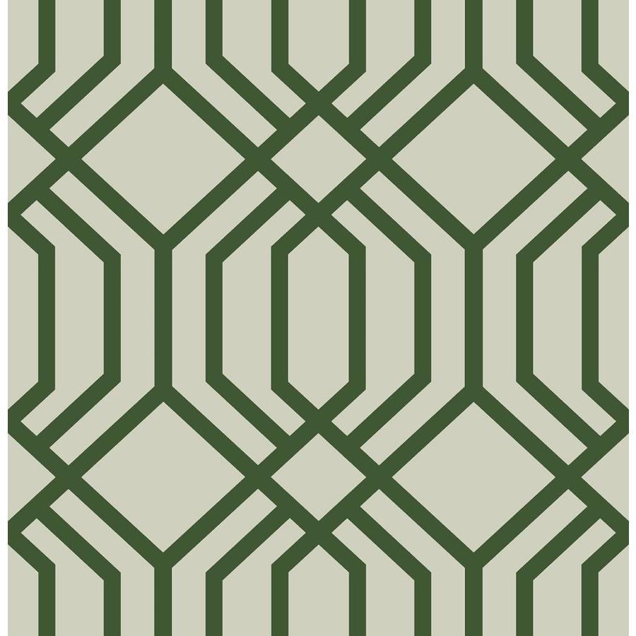 Scott Living 30 75 Sq Ft Emerald Vinyl Geometric Self Adhesive Peel And Stick Wallpaper In The Wallpaper Department At Lowes Com
