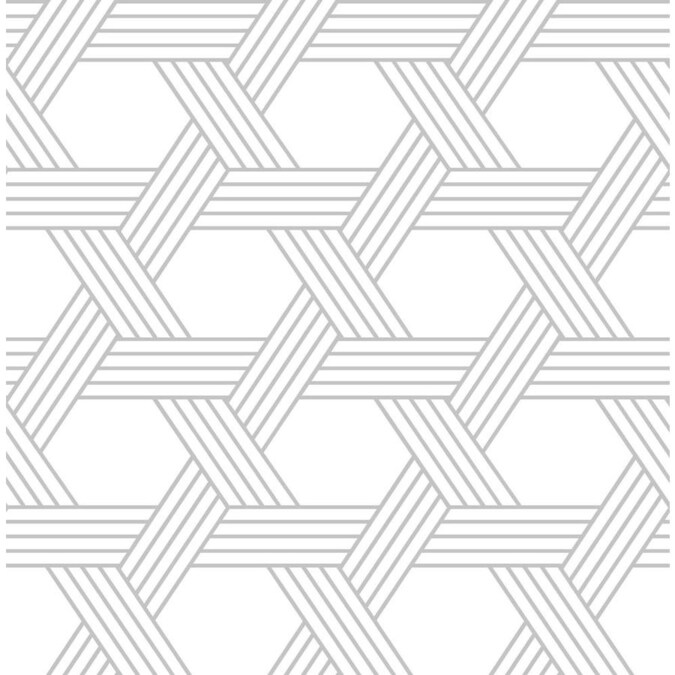 Scott Living 30 75 Sq Ft Silver Vinyl Geometric Self Adhesive Peel And Stick Wallpaper In The Wallpaper Department At Lowes Com