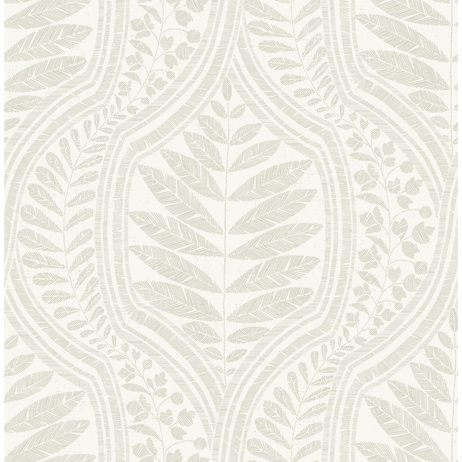 Scott Living 56 4 Sq Ft Beige Non Woven Ivy Vines Unpasted Wallpaper In The Wallpaper Department At Lowes Com