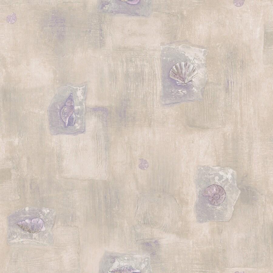 Shop brewster wallcovering cream peelable vinyl prepasted for Vinyl wallpaper for bathroom