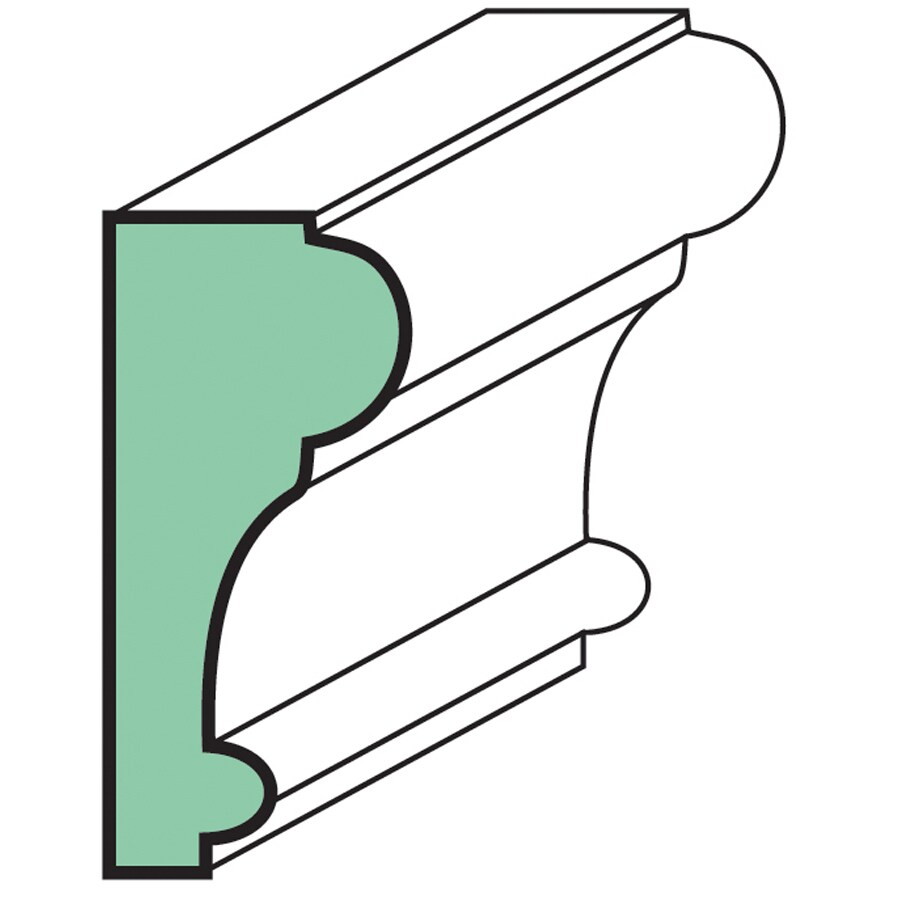 "EverTrue Fingerjoint Primed Chair Rail 2 1/2"" x 8' x 1.125"""