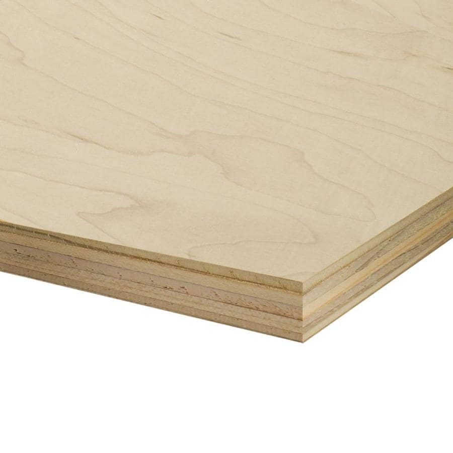 Top Choice 1/2-in HPVA Maple Plywood, Application as 4 x 8