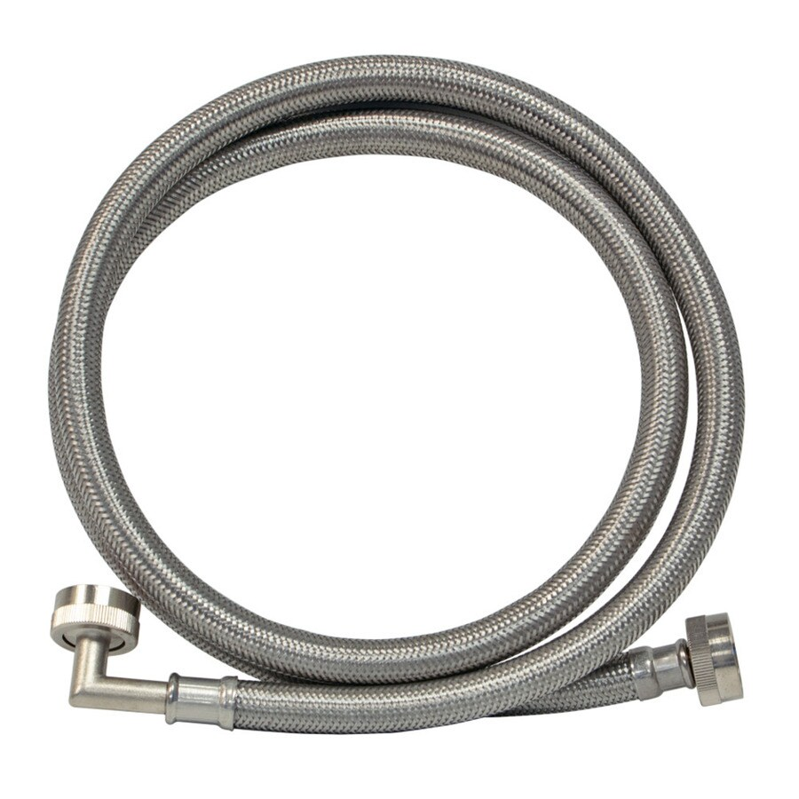 EASTMAN 4-ft 1500-PSI Braided Stainless Steel Washing Machine Fill Hose