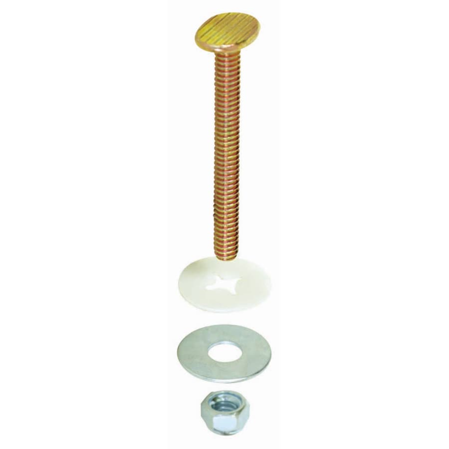 EASTMAN 5 Pair Closet Bolt Set Brass Plated Bolts