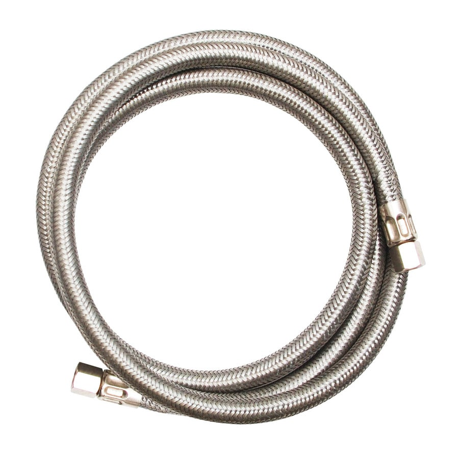 EASTMAN 20-ft 1,500-PSI Stainless Steel Ice Maker Connector