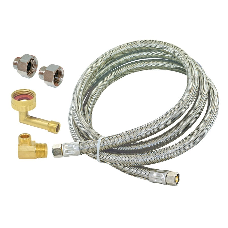 EASTMAN 5-ft 125-PSI Stainless Steel Dishwasher Connector