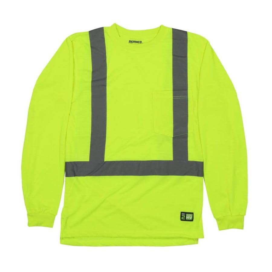BERNE APPAREL X-Large Hi-Vis Yellow High Visibility (Ansi Compliant) Enhanced Visibility (Reflective) T-Shirt