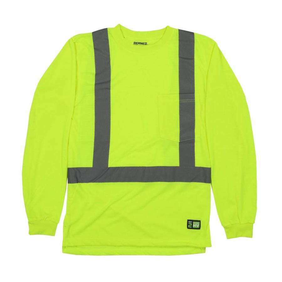 BERNE APPAREL Xx-Large Hi-Vis Yellow High Visibility (Ansi Compliant) Enhanced Visibility (Reflective) T-Shirt