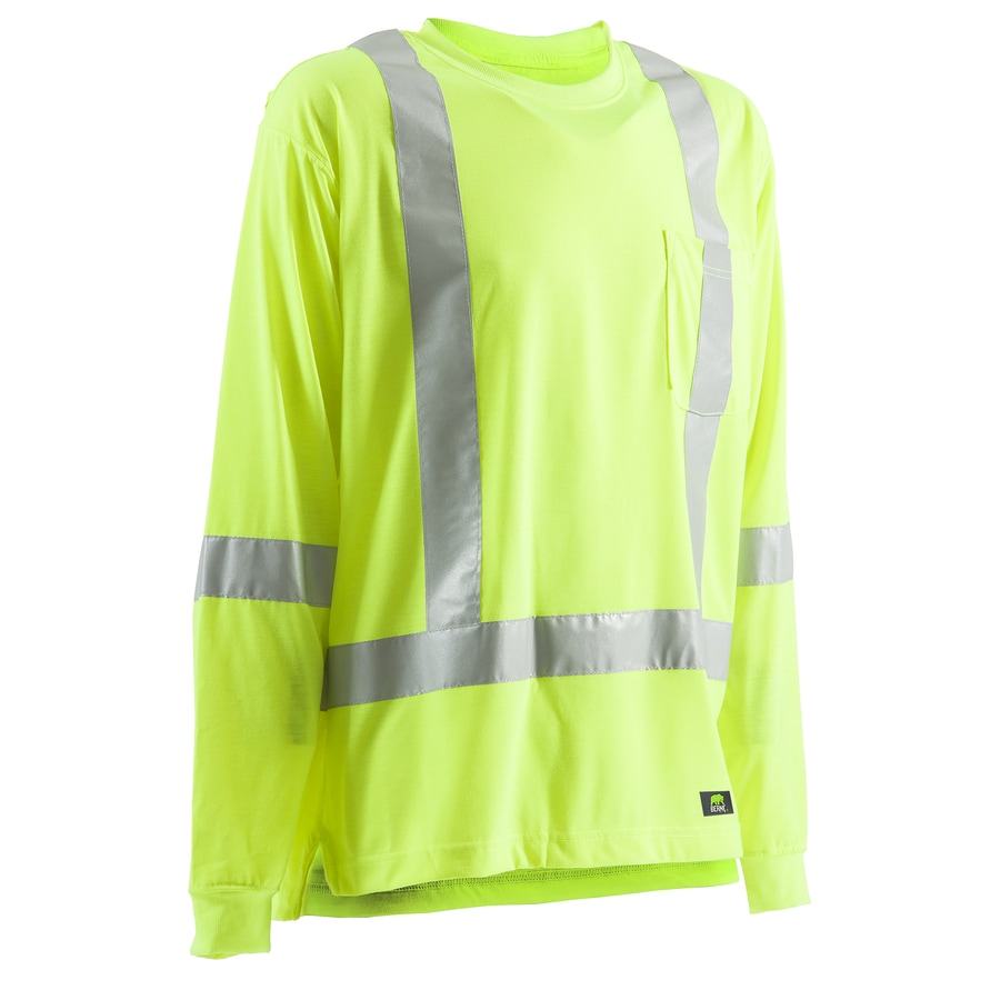 BERNE APPAREL Large Hi-Vis Yellow High Visibility (Ansi Compliant) Enhanced Visibility (Reflective) T-Shirt