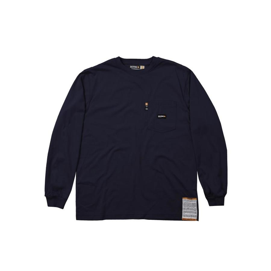 BERNE APPAREL Large-Long Navy T-Shirt
