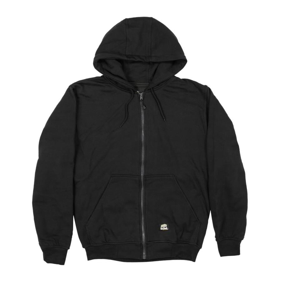 BERNE APPAREL Men's 6XL-Long Black Sweatshirt